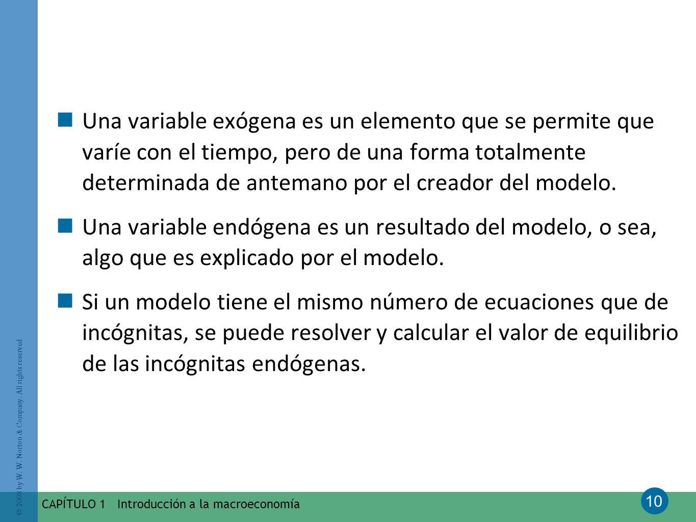 Una variable exógena es un elemento que se permite que varíe con el tiempo, pero de una forma totalmente determinada de antemano por el creador del modelo.