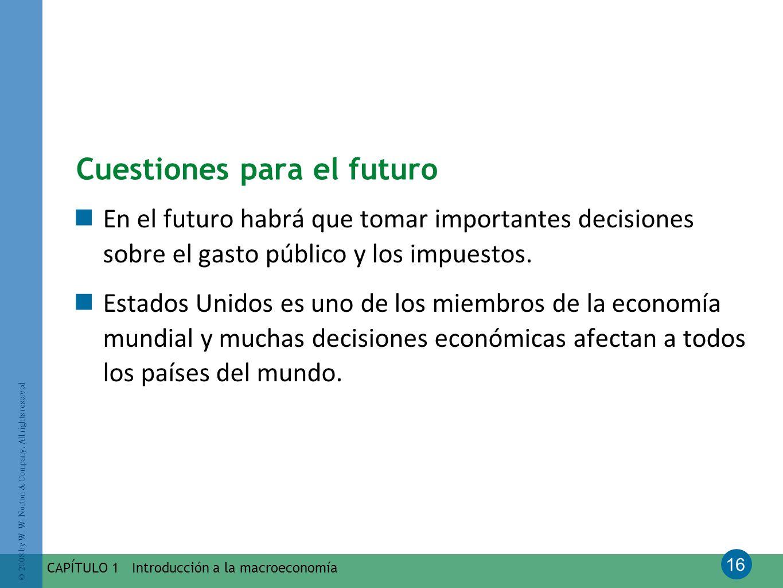 Cuestiones para el futuro