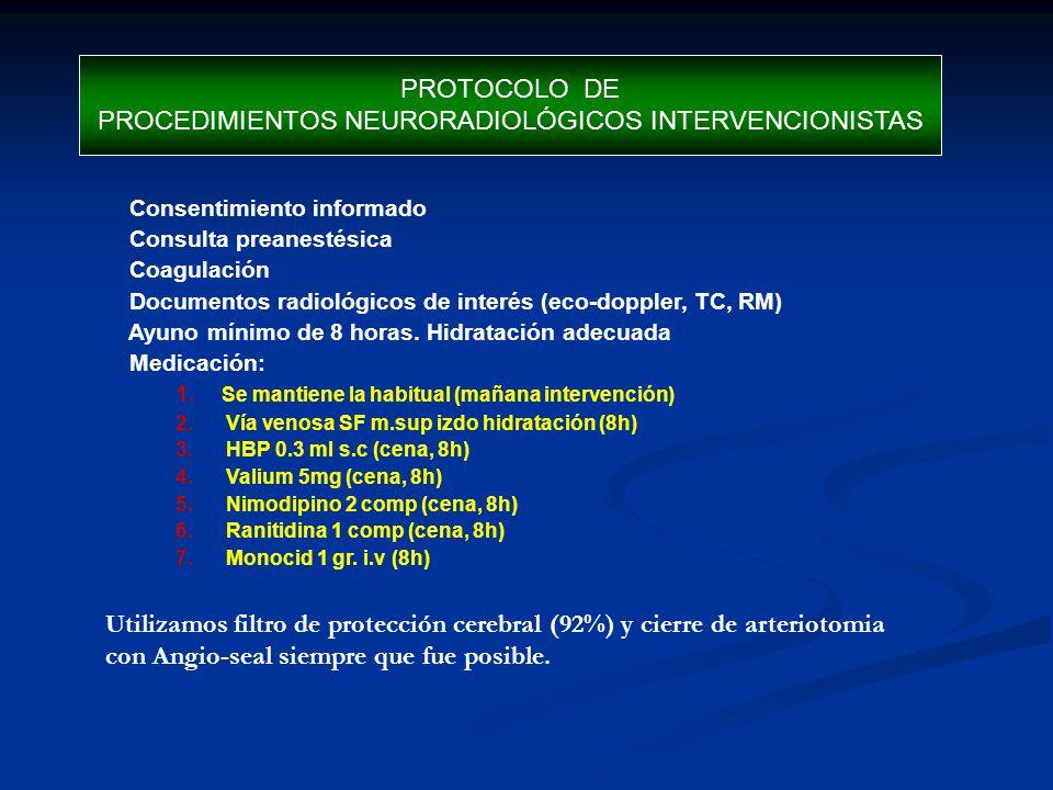 PROCEDIMIENTOS NEURORADIOLÓGICOS INTERVENCIONISTAS