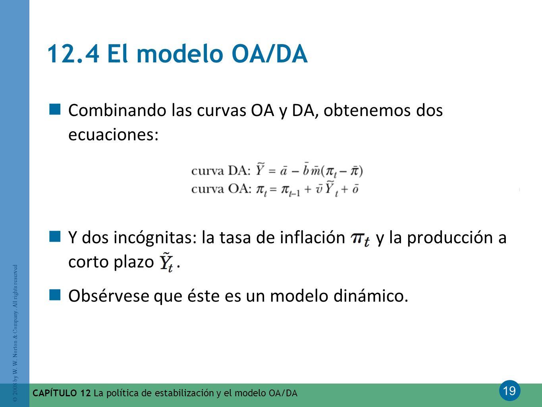 12.4 El modelo OA/DA Combinando las curvas OA y DA, obtenemos dos ecuaciones: