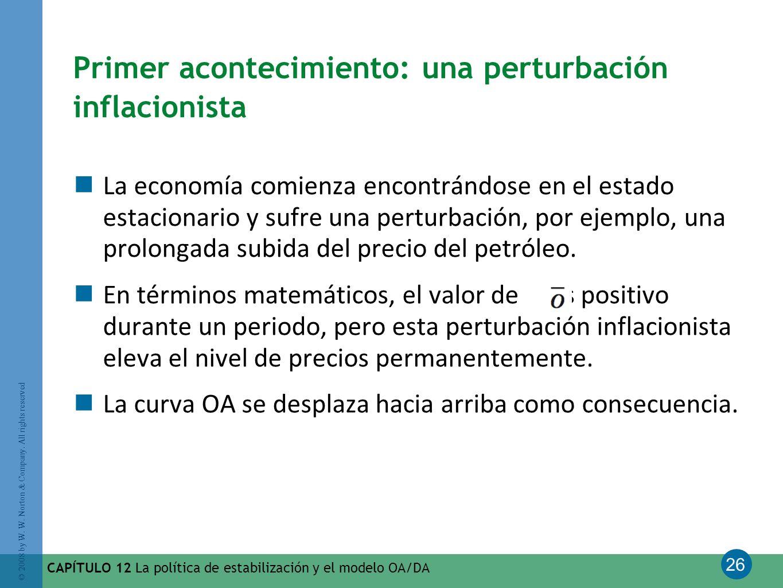 Primer acontecimiento: una perturbación inflacionista