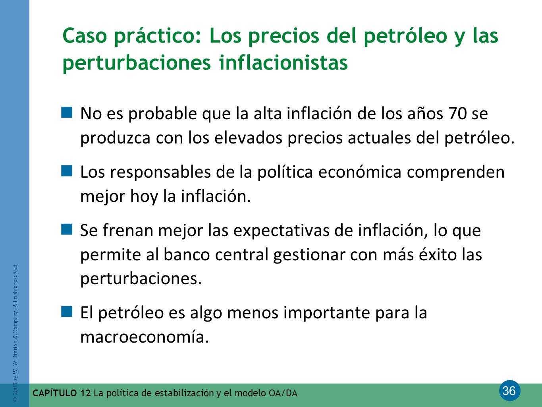 Caso práctico: Los precios del petróleo y las perturbaciones inflacionistas