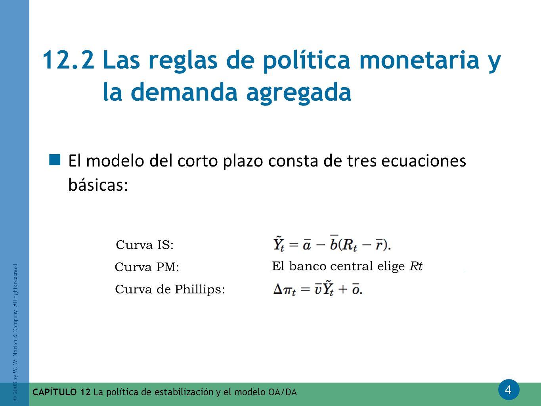 12.2 Las reglas de política monetaria y la demanda agregada