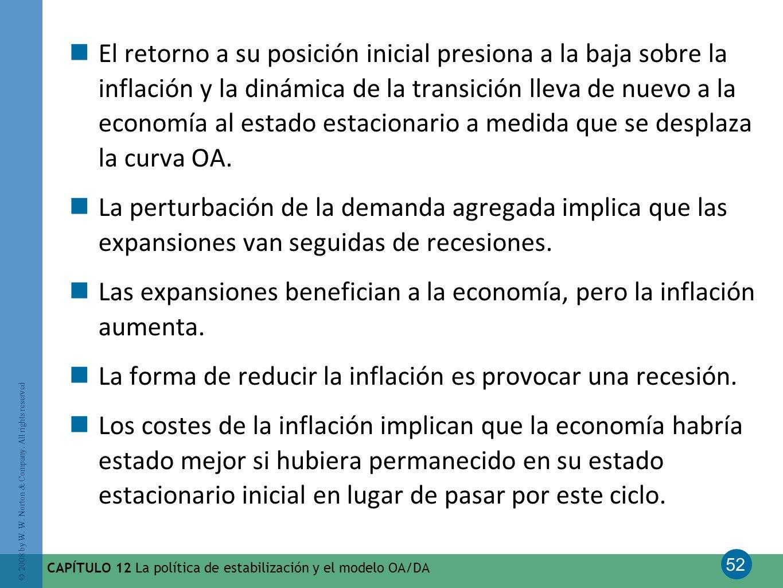 Las expansiones benefician a la economía, pero la inflación aumenta.