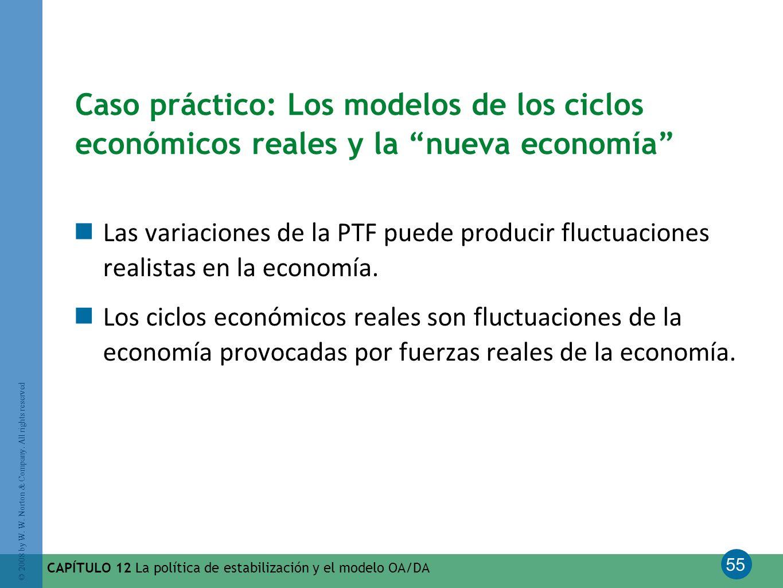 Caso práctico: Los modelos de los ciclos económicos reales y la nueva economía