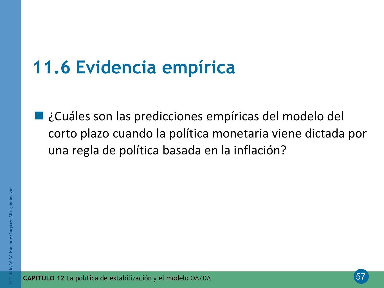 11.6 Evidencia empírica