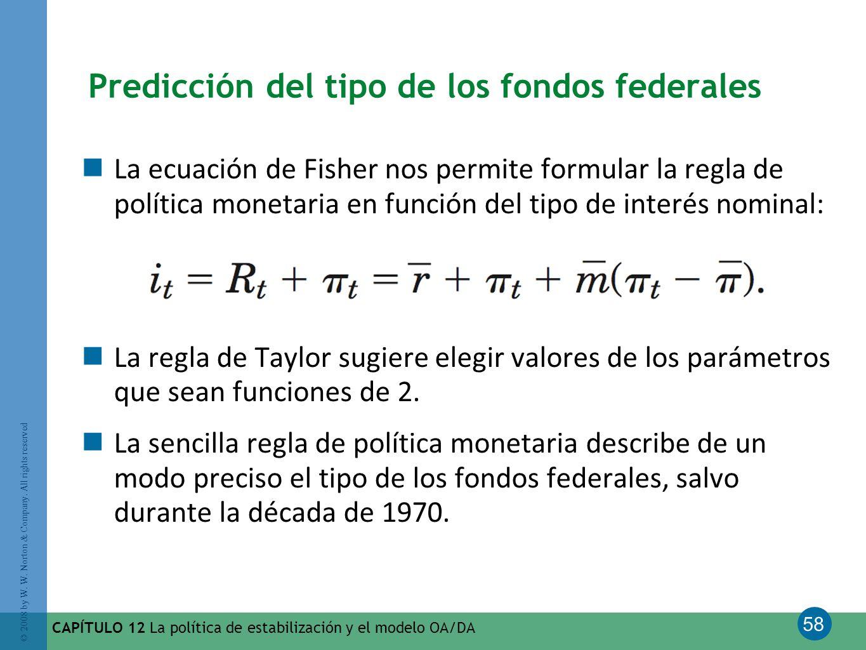 Predicción del tipo de los fondos federales