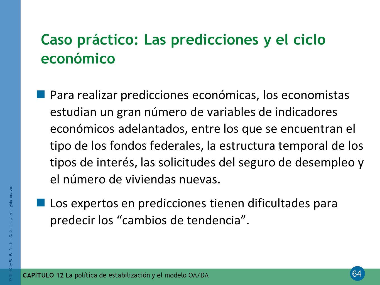 Caso práctico: Las predicciones y el ciclo económico