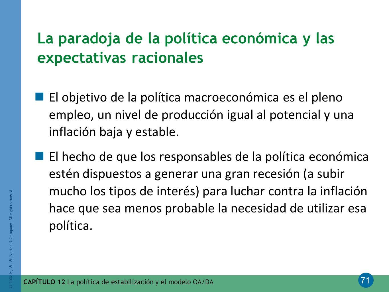 La paradoja de la política económica y las expectativas racionales