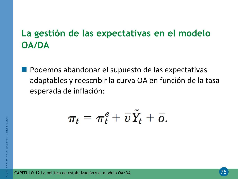 La gestión de las expectativas en el modelo OA/DA
