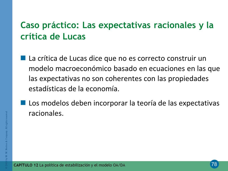Caso práctico: Las expectativas racionales y la crítica de Lucas