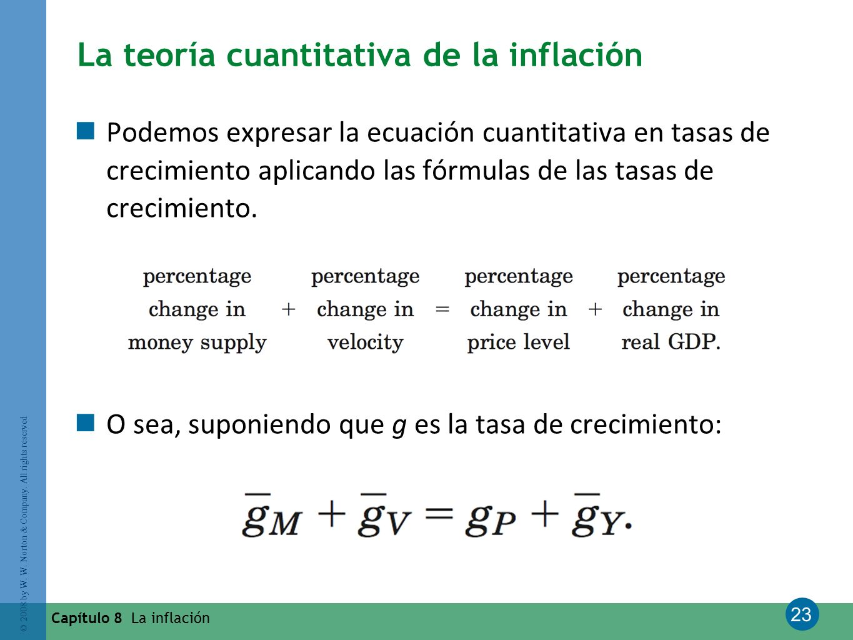 La teoría cuantitativa de la inflación