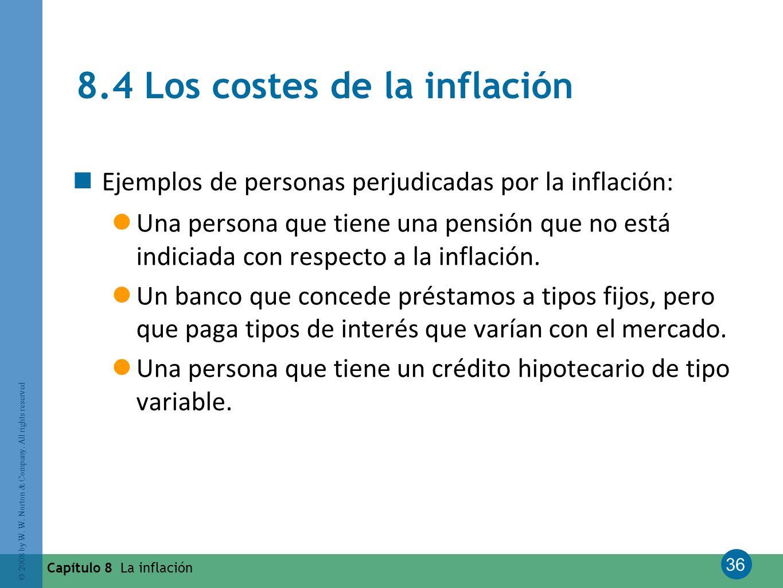 8.4 Los costes de la inflación