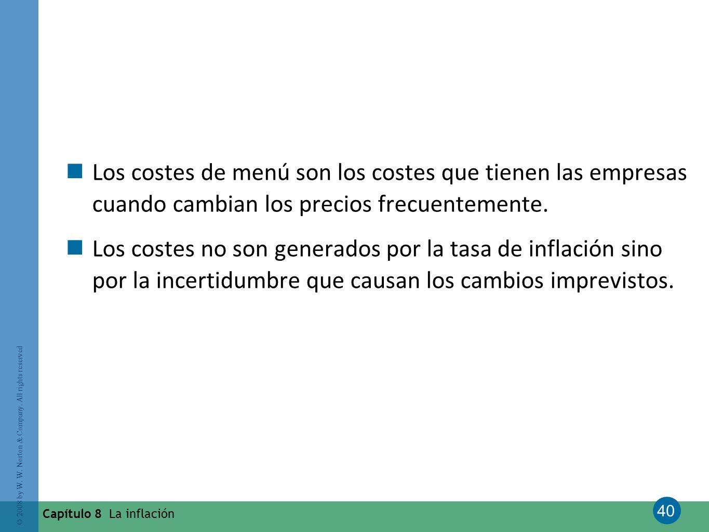 Los costes de menú son los costes que tienen las empresas cuando cambian los precios frecuentemente.