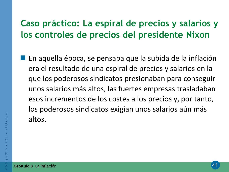 Caso práctico: La espiral de precios y salarios y los controles de precios del presidente Nixon