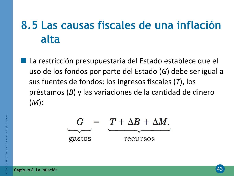 8.5 Las causas fiscales de una inflación alta