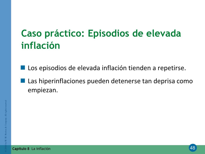 Caso práctico: Episodios de elevada inflación