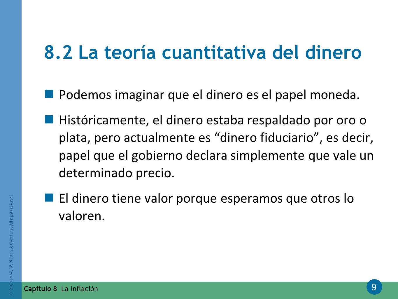 8.2 La teoría cuantitativa del dinero