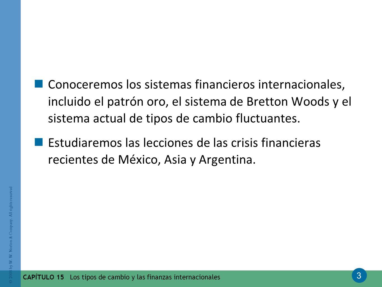 Conoceremos los sistemas financieros internacionales, incluido el patrón oro, el sistema de Bretton Woods y el sistema actual de tipos de cambio fluctuantes.