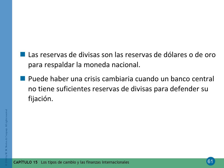Las reservas de divisas son las reservas de dólares o de oro para respaldar la moneda nacional.