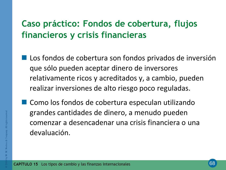 Caso práctico: Fondos de cobertura, flujos financieros y crisis financieras