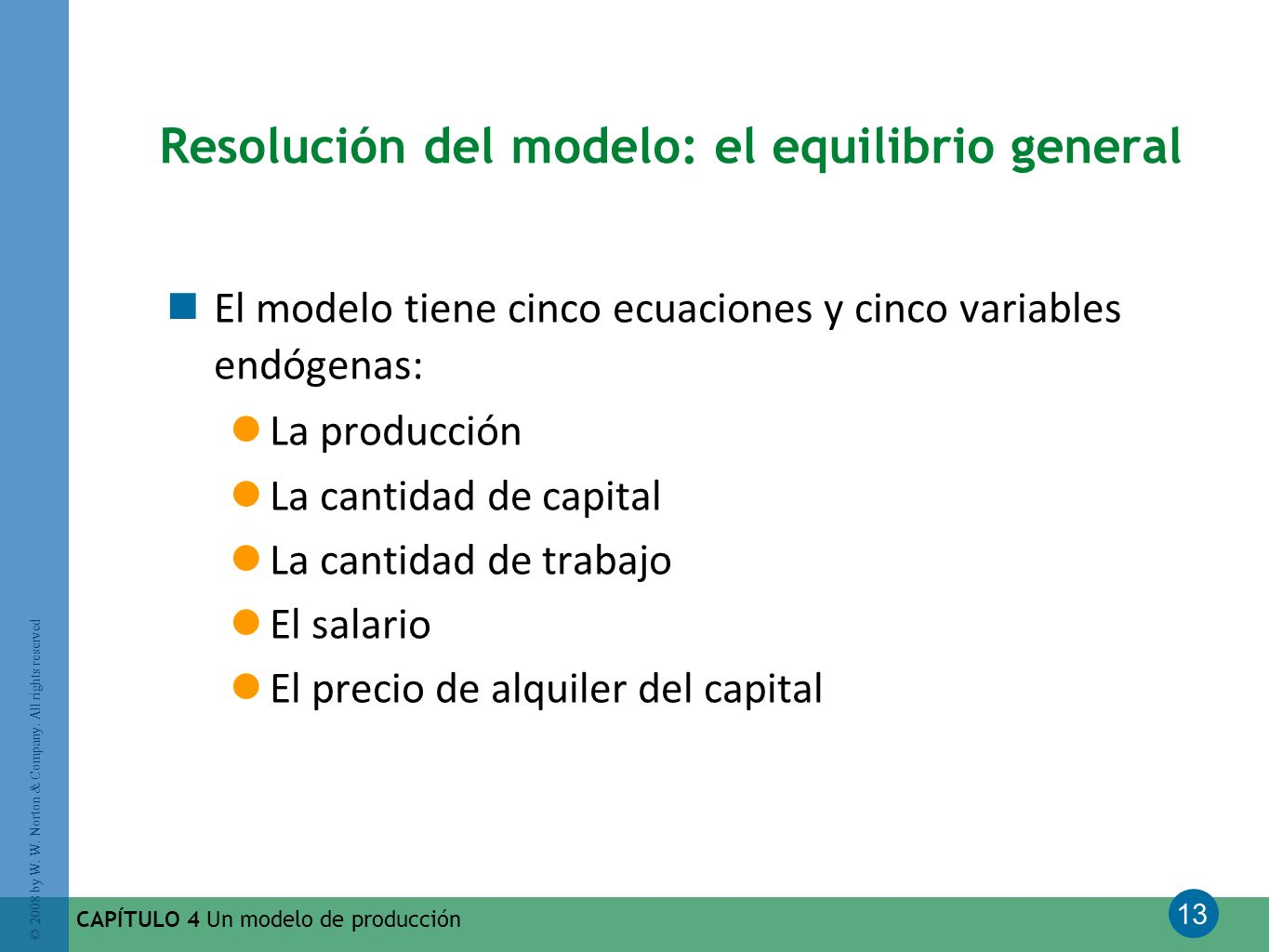 Resolución del modelo: el equilibrio general
