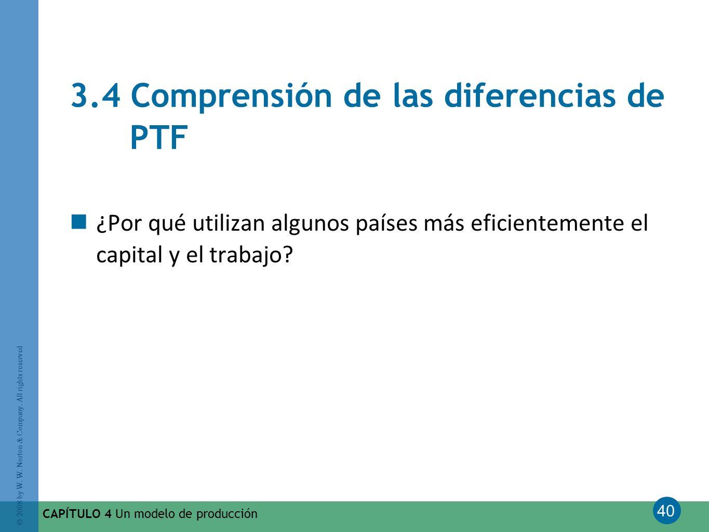 3.4 Comprensión de las diferencias de PTF