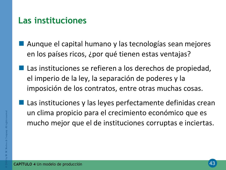 Las instituciones Aunque el capital humano y las tecnologías sean mejores en los países ricos, ¿por qué tienen estas ventajas
