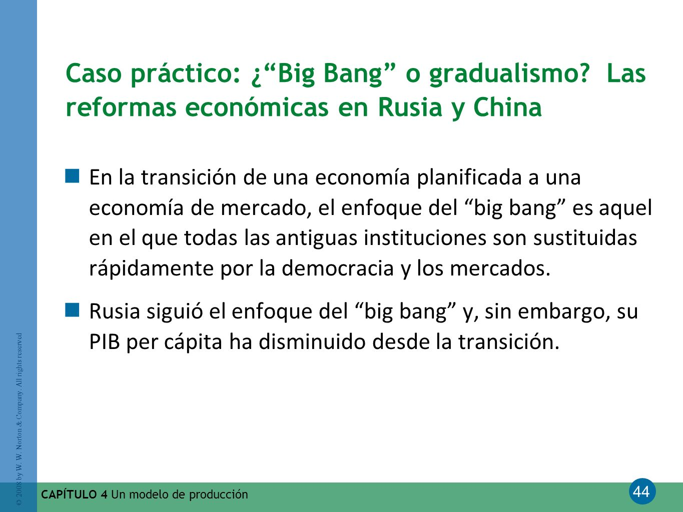Caso práctico: ¿ Big Bang o gradualismo