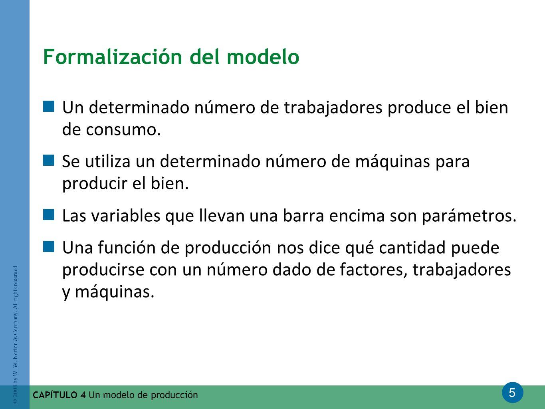 Formalización del modelo