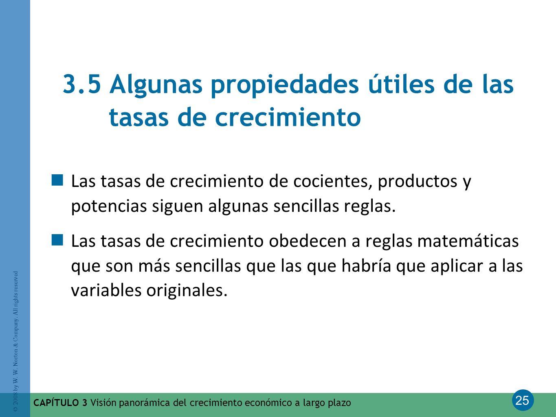 3.5 Algunas propiedades útiles de las tasas de crecimiento