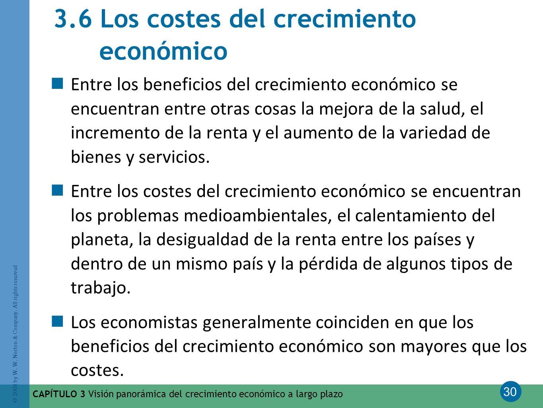3.6 Los costes del crecimiento económico