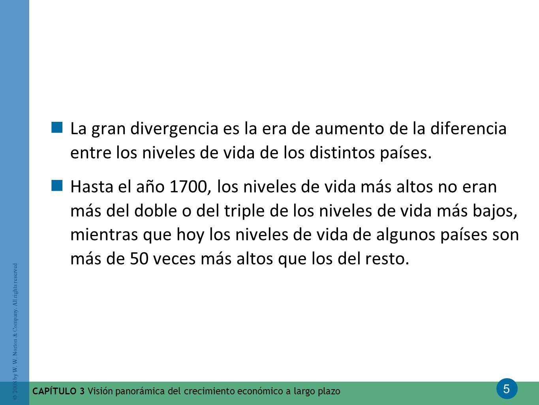 La gran divergencia es la era de aumento de la diferencia entre los niveles de vida de los distintos países.