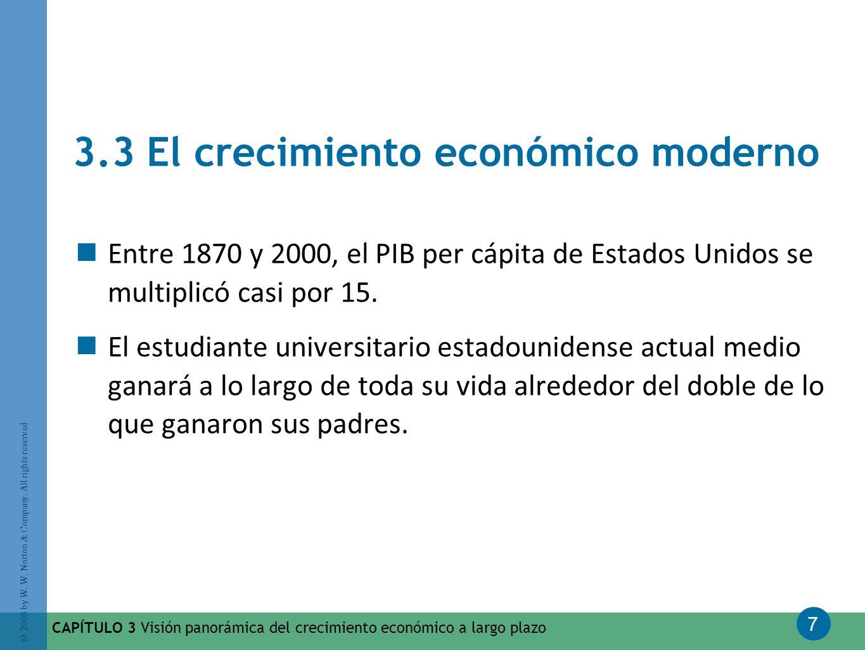 3.3 El crecimiento económico moderno