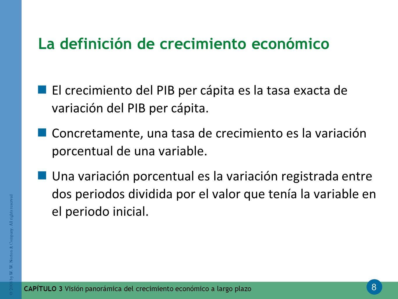 La definición de crecimiento económico