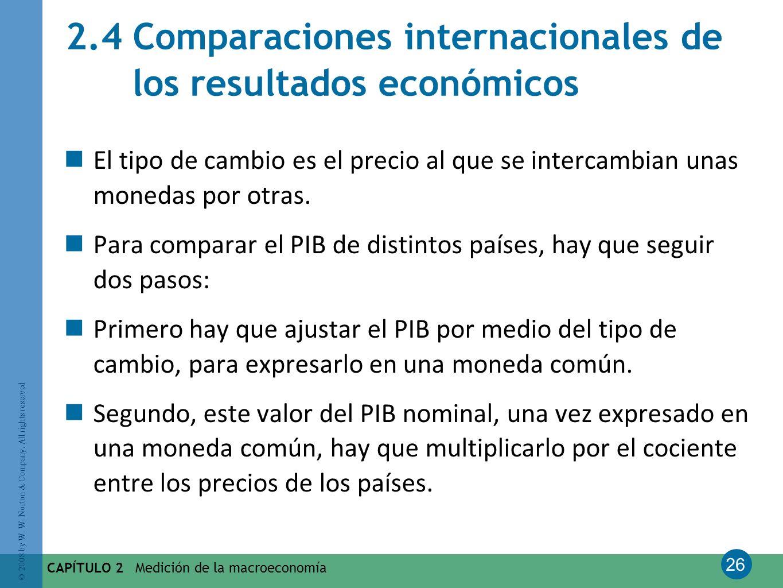2.4 Comparaciones internacionales de los resultados económicos
