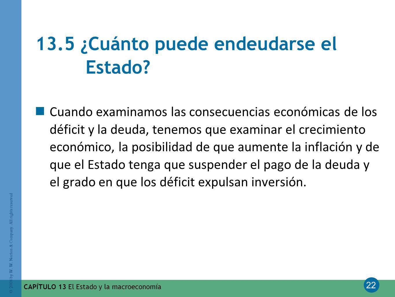 13.5 ¿Cuánto puede endeudarse el Estado