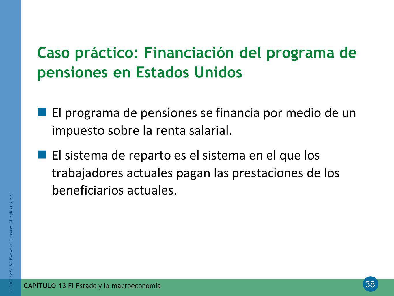 Caso práctico: Financiación del programa de pensiones en Estados Unidos