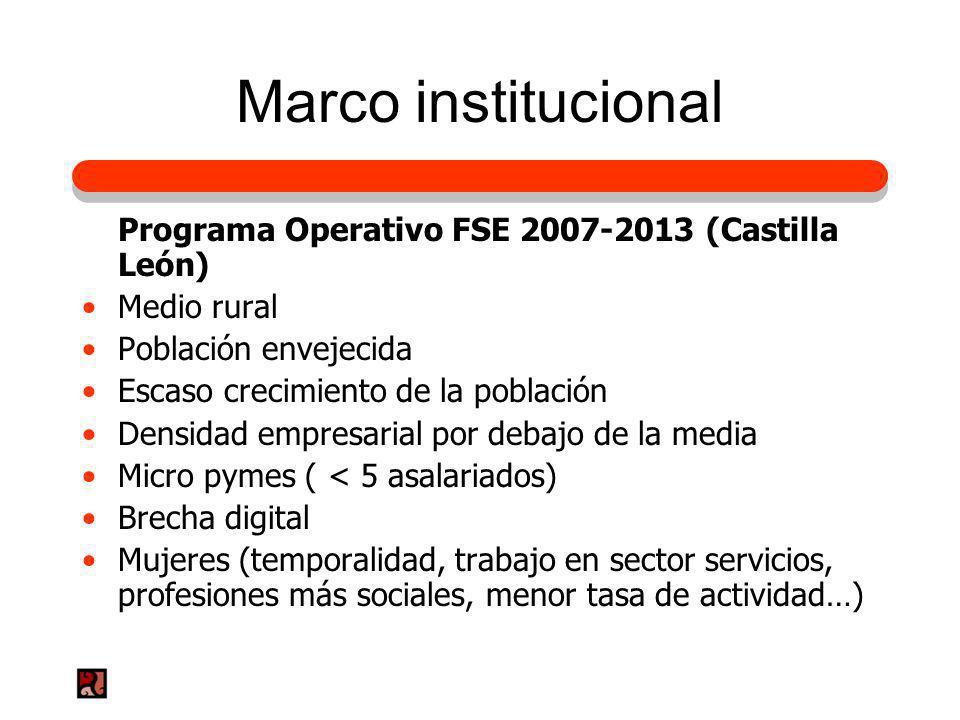 Marco institucional Programa Operativo FSE 2007-2013 (Castilla León)