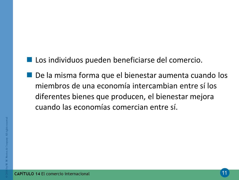 Los individuos pueden beneficiarse del comercio.