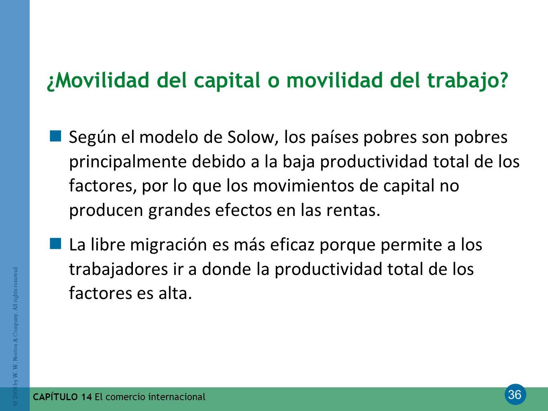 ¿Movilidad del capital o movilidad del trabajo