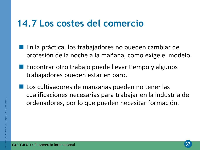 14.7 Los costes del comercio