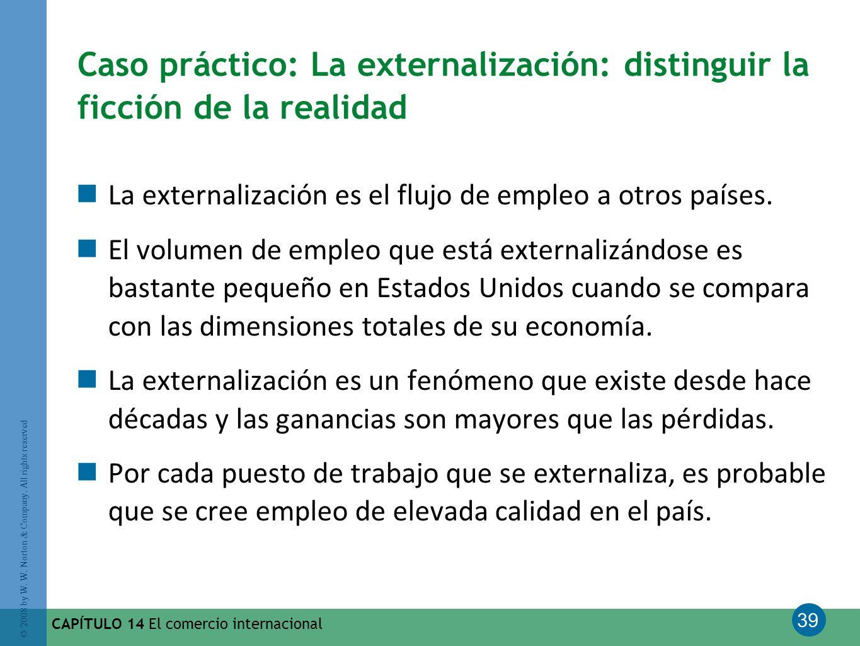 Caso práctico: La externalización: distinguir la ficción de la realidad