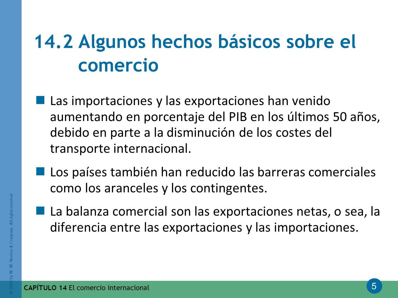 14.2 Algunos hechos básicos sobre el comercio