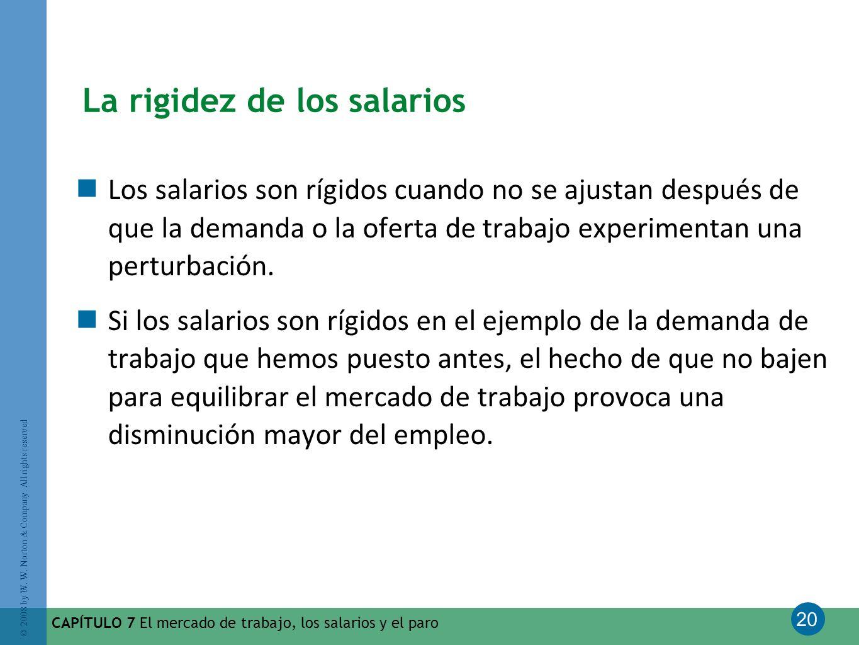La rigidez de los salarios