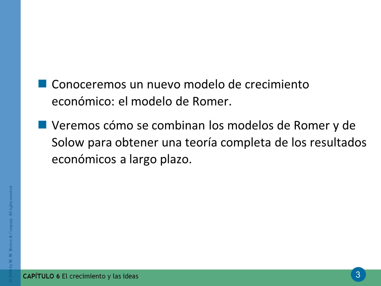 Conoceremos un nuevo modelo de crecimiento económico: el modelo de Romer.