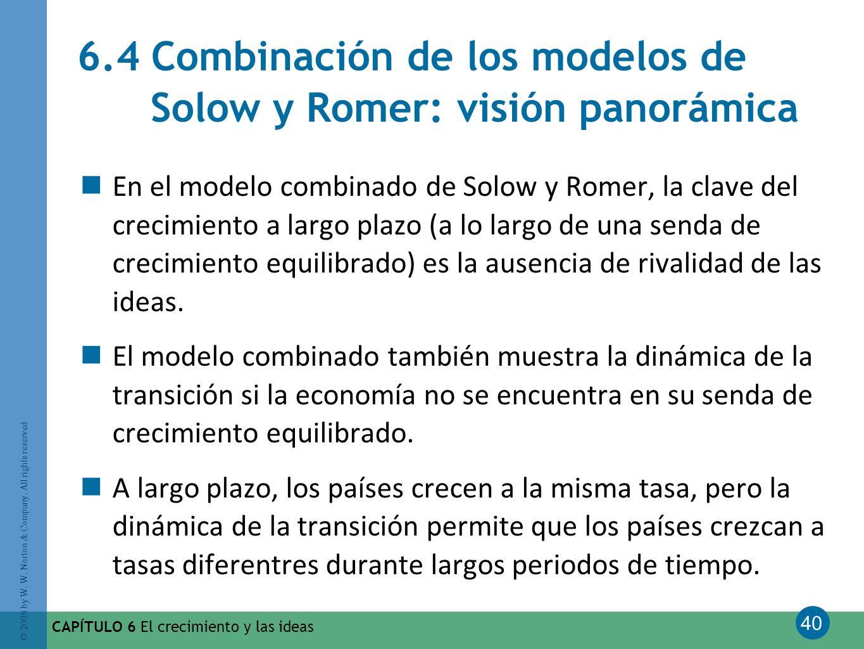 6.4 Combinación de los modelos de Solow y Romer: visión panorámica