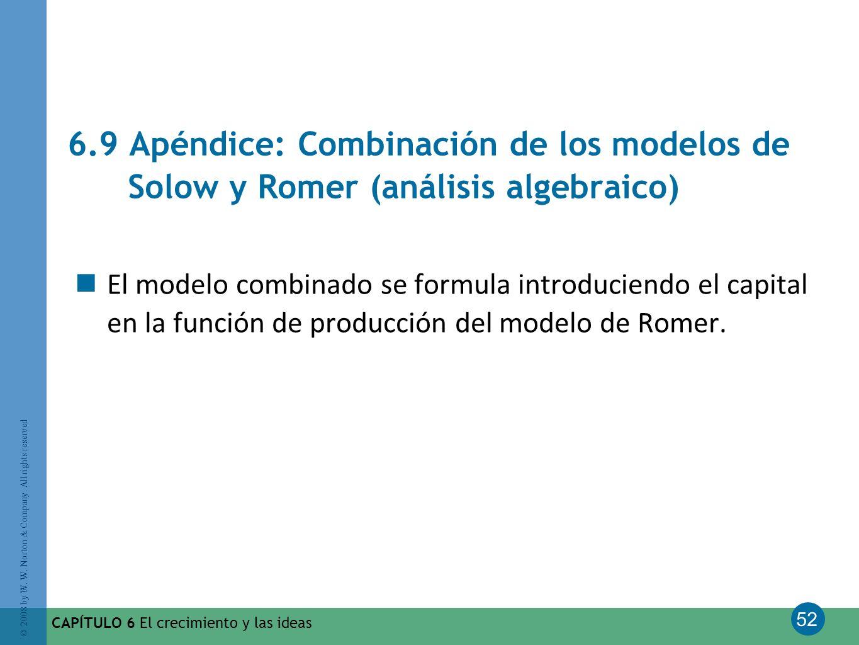 6.9 Apéndice: Combinación de los modelos de Solow y Romer (análisis algebraico)