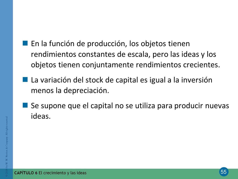 Se supone que el capital no se utiliza para producir nuevas ideas.
