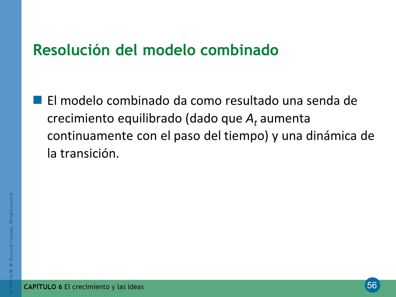 Resolución del modelo combinado